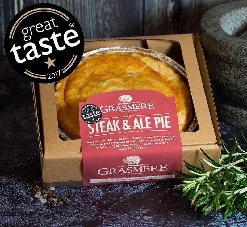 Grasmere Medium Steak & Real Ale Pie - Grasmere Farm